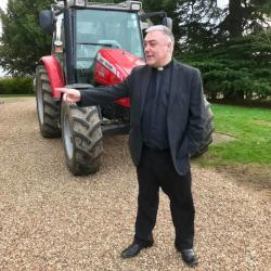Revd. Steve pointing us in the right direction - Plough Sunday - February 2019